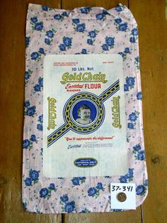 Vintage FeedSack - Mom made us clothes from these.