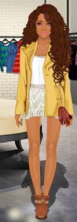 Look Stardoll  Doll Lotica Com fundo