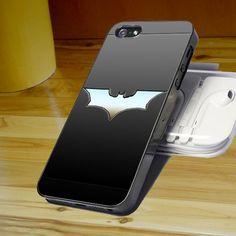 Batman Logo Silver For Apple Phone, IPhone 4/4S Case, IPhone 5 Case, Cover Plastic