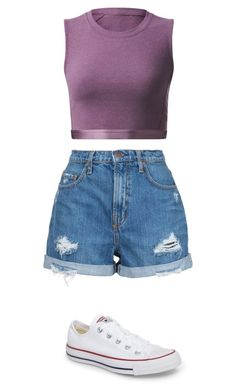 """""""❤❤❤"""" by chloe417 ❤ liked on Polyvore featuring lululemon, Nobody Denim and Converse"""