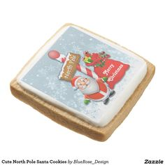 Shop Santa Hat Festive Christmas Cookies created by BlueRose_Design. Cookie Wedding Favors, Cookie Favors, Cookie Gifts, Chocolate Covered Oreos, Chocolate Box, Christmas Treats, Christmas Cookies, Square Cookies, Santa Cookies