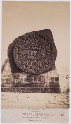 Obsidian Mirror-Travels: The Aztec Calendar Stone (Getty Research Institute)