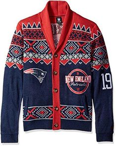 9f3f05ced462c New England Patriots 2015 Ugly Cardigan Extra Large