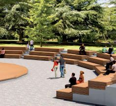Contemporary wooden public bench SOLID TERRACE SYSTEM Streetlife