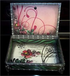decorated cigar box
