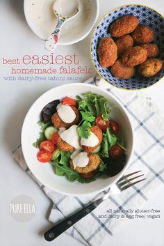 Best Easiest Homemade Falafels : vegan and gluten-free | www.pureella.com #vegan #glutenfree