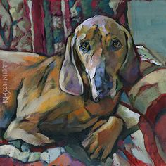 Louisiana Edgewood Art Paintings by Louisiana artist Karen Mathison Schmidt: Dog Rules ... or maybe that should be Dogs Rule!
