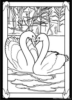 Beautiful Birds In Mated Pairs Stained Glass Coloring Book Dover
