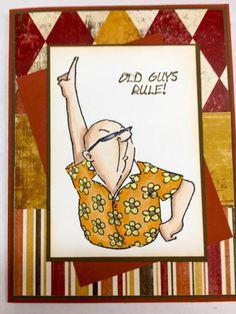 Art Impressions:  Ai Shake Your Booty!  Disco Set (Sku#4307) Handmade masculine card