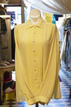 Cabaret Vintage - Ladies Vintage Yellow Blouse, $58.00 (http://www.cabaretvintage.com/vintage-dresses/vintage-blouses/ladies-vintage-yellow-blouse/)   #vintageblouse #blouse #blouses  #vintage #dressvintage #shopping #vintagestore #vintagefashion #ilovevintage #vintagelove #vintagegirl #vintageshopping #vintageclothing #vintagefinds #vintagelover #vintagelook #followme #skirtoftheday #ootd #shopitrightnow #instastyle #torontovintage #toronto #queenwest #cabaretvintage