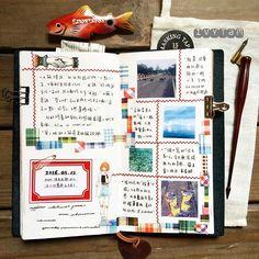 ✍#semporna ❢#stationaries ❢#ほぼ日手帐 ❢#hobonichi techo ❢#weeks ❢#maskingtape ❢#midori ❢#travelersnotebook ❢#手帳 ❢#maste ❢#mt ❢#卓大王 ❢#vintage ❢#diary ❢#handmade ❢#toolstoliveby ❢#stickers ❢#女子亥 ❢#kaweco