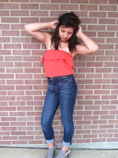 Because high waisted jeans are the funnest! Miss Me high waisted denim! Shop www.thatgirlsboutiquetx.com