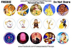 Click to save in full size. Free bottle cap images. Beauty and the Beast