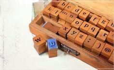 Aution House Caucho Letra Número 30 Pcs Estanpilla en una Cajita DIY Diario Sellos Tarjetas Artesanía, Letra Alfabeto , Símbolo: Amazon.es: Oficina y papelería