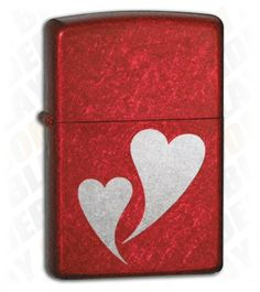 LARGE ZIPPO LIGHTERS | Zippo Lighter Double Hearts - Blade Play