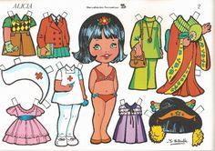 muñecas recortables, paper dolls, bambole da carta, poupées en papier.