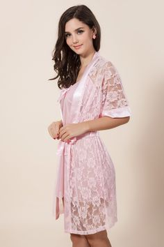 Looking beautiful in this gorgeous net embroidered night gown Pink Lingerie, Pretty Lingerie, Beautiful Lingerie, Lingerie Sleepwear, Nightwear, Satin Dresses, Sexy Dresses, Ropa Interior Boxers, Pyjama Satin