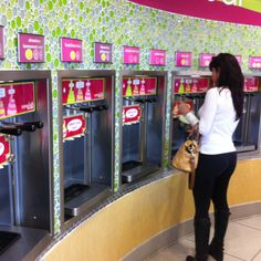 Gina agonizes over decision at the new Menchie's in Magnolia.