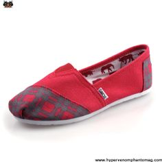 Buy 2013 New Lattice Rubber Sole Red Mens Artist Toms Shoes