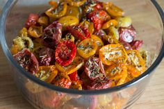 Nigella's Moonblush Tomatoes dry slowly in a warm oven overnight to become the sweet, juicy stars of every dish you use them in.