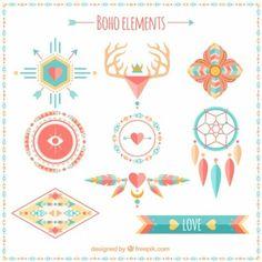 Ethnic boho elements