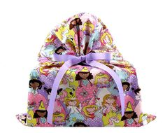 Large Birthday Gift Bag with Princesses by VZWraps on Etsy, $14.00
