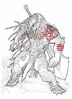 My version of this predator: drawing: original design: