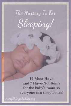 The Nursery is for Sleeping
