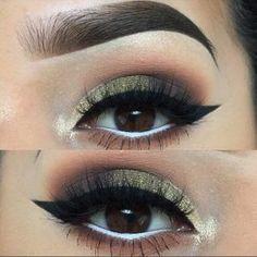 Olive Green Smokey Eye for Brown Eyes