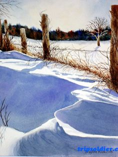 Explore the amazing attractions with TripSoldier Painting Snow, Winter Painting, Winter Art, Watercolour Painting, Watercolours, Watercolor Landscape, Landscape Art, Landscape Paintings, Art Aquarelle
