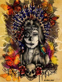 ARUENÃ - INDIAN MEXICAN SKULL