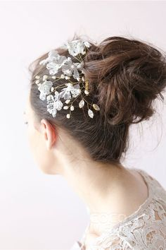 Fantastic Ivory Wedding Headpiece with Pearl SAH006