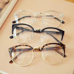 b6a8a6f914e6f Barato transparente armação de óculos Anti-fadiga para os olhos de gato mulheres  Óculos Oculos de grau masculino dos homens Retro Do Vintage eyewear Loja ...