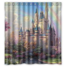Disney Find – Disney Castle Shower Curtain - Most Disney fans love to incorporate Disney themes where ever we can, even in our bathrooms! Lately everyone has been clamoring to get this beautiful Disney Castle Shower Curtain. I have to say I don't blame anyone for wanting this one, it's not only beautiful but also has a more grown up appeal to it, because Disney isn't just for kid rooms. The Disney Castle Shower Curtain can be found on Amazon for a great price of only $16.61! It definitely…