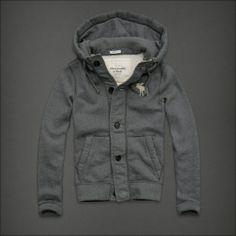 Grey Abercrombie Hoodie