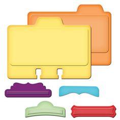 Spellbinders Address Book / Rolodex Card Die Cut & file tabs