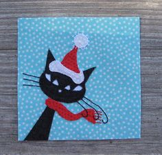 BBC, Bitty, Winter/Christmas Private Swap- Santa Kitty by FlossieBlossoms, via Flickr