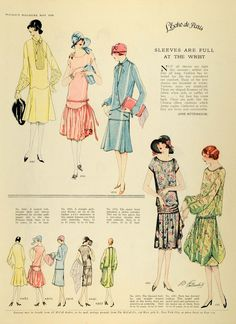 1926 Print McCalls Dressmaking Patterns Womens Flapper Fashion Clothing Hats   eBay