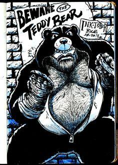 Beware the Teddy Bear #inktober #inktobear #inktoberbrasil #inktoberbrazil #inktober2015