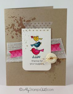 Sweet Card with Stampin' Up!'s retiring stamp set For the Birds.