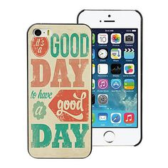 It's A Good Day Design Aluminum Hard Case for iPhone 5C - USD $ 1.39