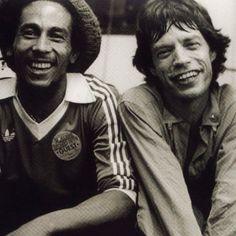 Bob marley + mick jagger.