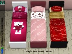Single Bed Sweet Dreams at Just For Your Sims via Sims 4 Updates