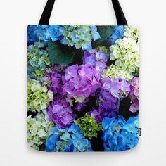 e35b64f278 Colorful Flowering Bush Tote Bag Einkaufstasche