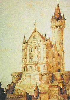 Architect Max Schultze's simplified design for Falkenstein Castle