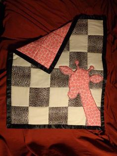 Giraffe Baby Quilt - QUILTING  - Knitting, sewing, crochet, tutorials, children crafts, papercraft, jewlery, needlework, swaps, cooking and so much more on Craftster.org