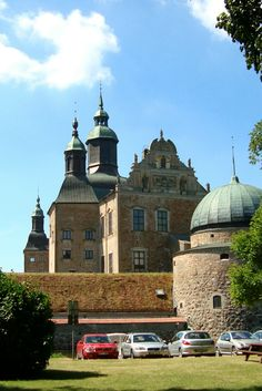 Outside Vadstena Castle in Sweden