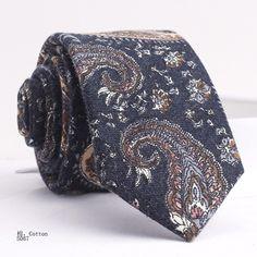 COTTON  TIE S087 Wool Tie, Floral Tie, Alexander Mcqueen Scarf, Ties, Handsome, Cotton, Accessories, Fashion, Tie Dye Outfits