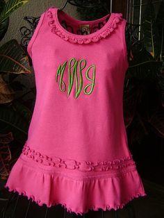 Personalized Monogram Dress - Custom Made Sizes 6 mos-Girls 6X on Etsy, $22.00
