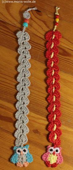 "Crochet instruction - Bookmark owl ""Minchen"" gift idea:"